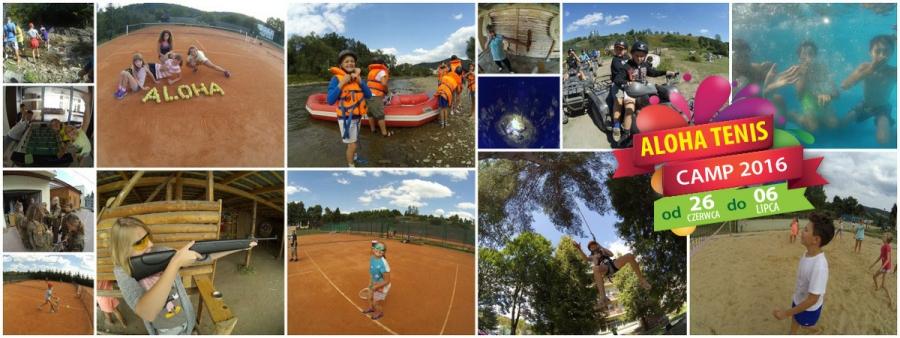 OBÓZ TENISOWO - SPORTOWY - ALOHA TENIS CAMP 2016